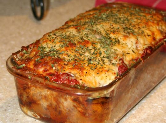 Parmesan Meatloaf {Gluten Free}- should be awesome with baked potatoes and veggies!