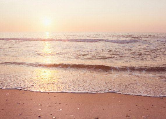 Sunrise Photography  ocean summer coastal wall by CarolynCochrane, $15.00