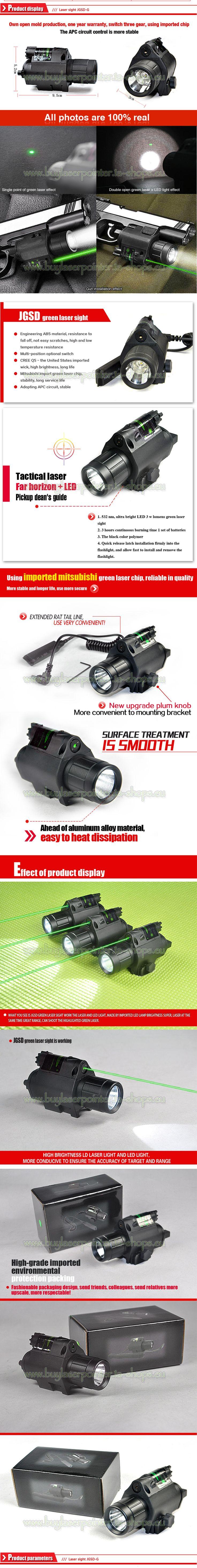 Laservisier Grün Pistole mit LED Lampe