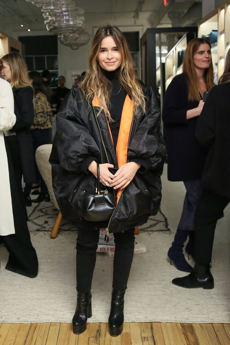 Miroslava Duma with a Gabriela Hearst bag