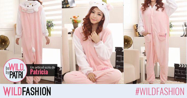 Hey, cats! Care este cea mai indragita pisicuta? Daca ati ghicit, sigur ati adora aceasta pijama pufoasa si calduroasa!