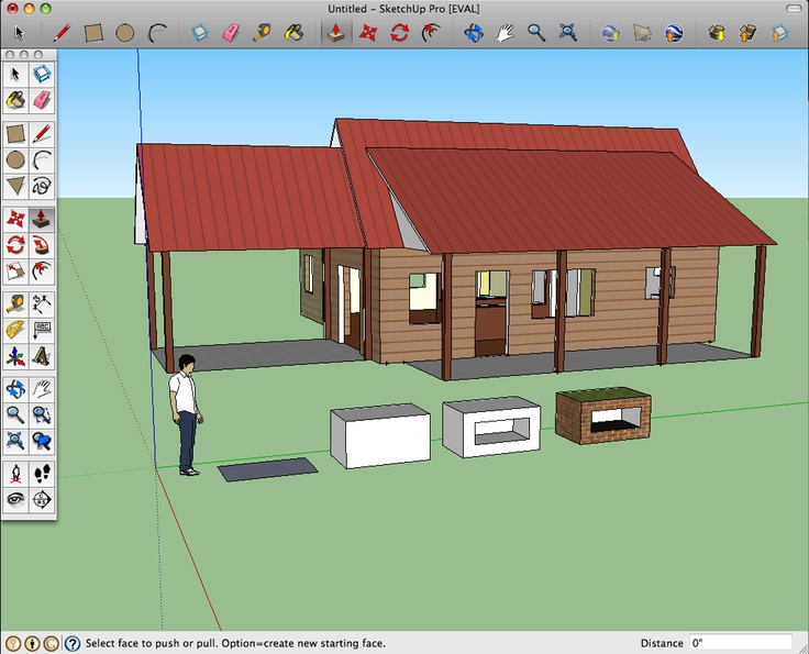 Google SketchUp 3D modeling for everyone. House styles