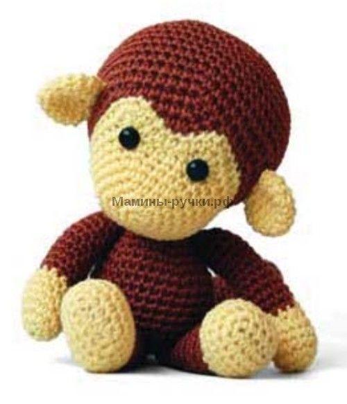 Вязаная крючком обезьянка Джони