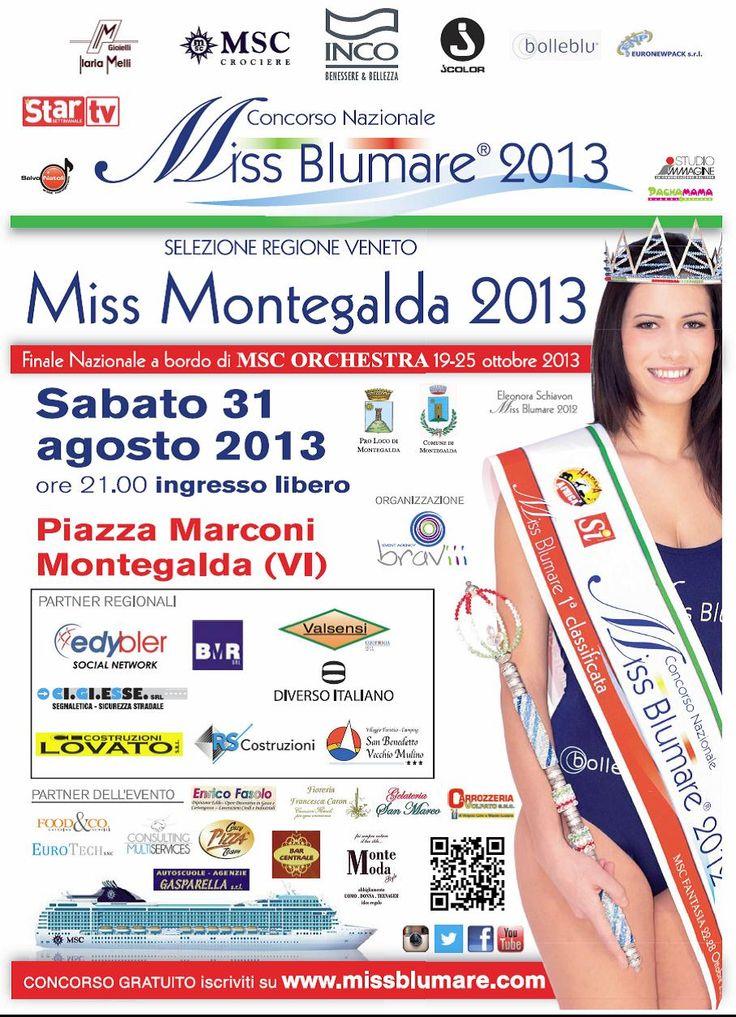 31 agosto ore 21.00 a Montegalda, MISS BLUMARE!!! Con presentazione dell'autunno inverno DIVERSO ITALIANO!!! Vi aspettiamo!