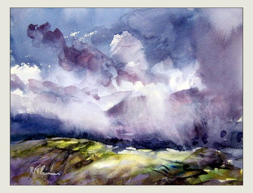 25 best ideas about watercolor landscape paintings on for Watercolor painting samples