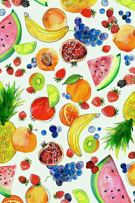 Fruit Wallpaper | Phone Wallpapers | Fruit, Watercolor ...