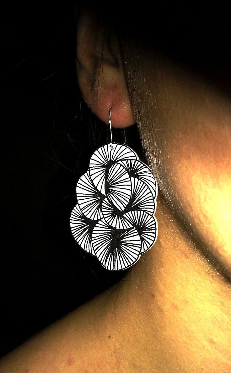 Earring in shrink plastic, inspired from trinesoehest.blogspot.dk