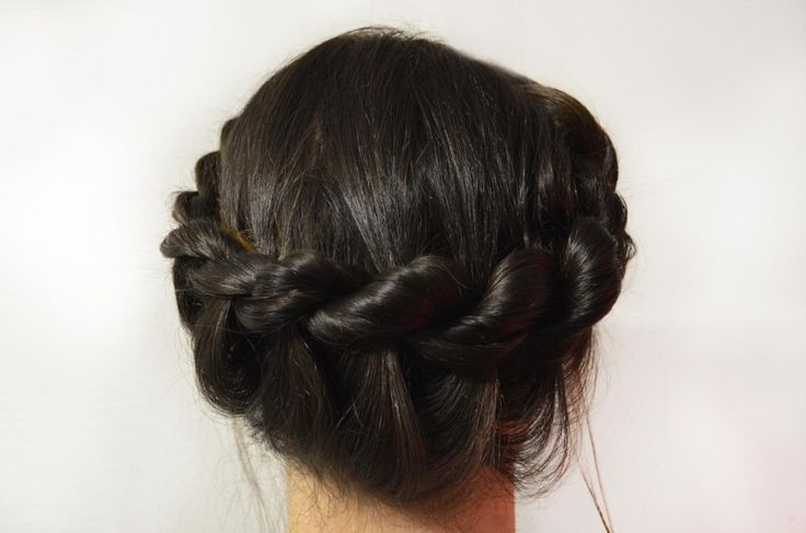 Rope Halo Braid- Formal or wedding hair style