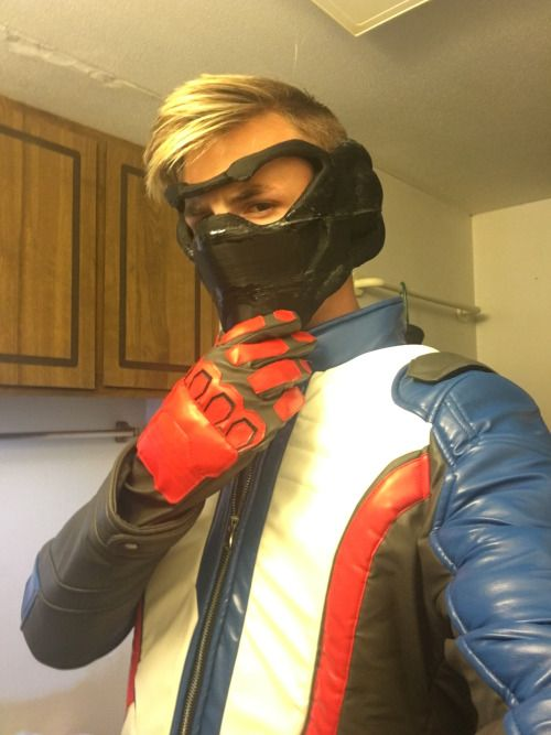more-of-an-ass-man:  Soldier: 76 cosplay update!  Jacket arrived...