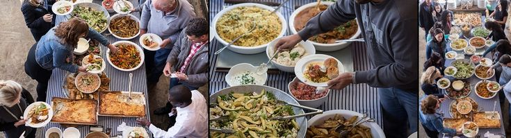 Fresh Creative Catering's harvest table | Sunday Lunch at Katy's Palace Bar