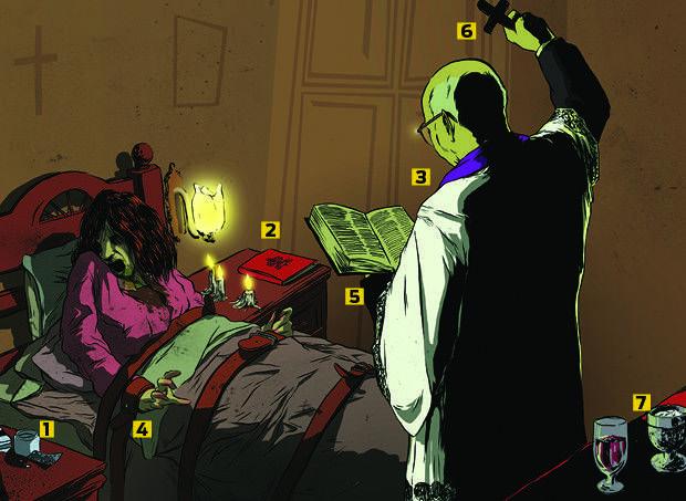 Quais são as etapas de um ritual de exorcismo?