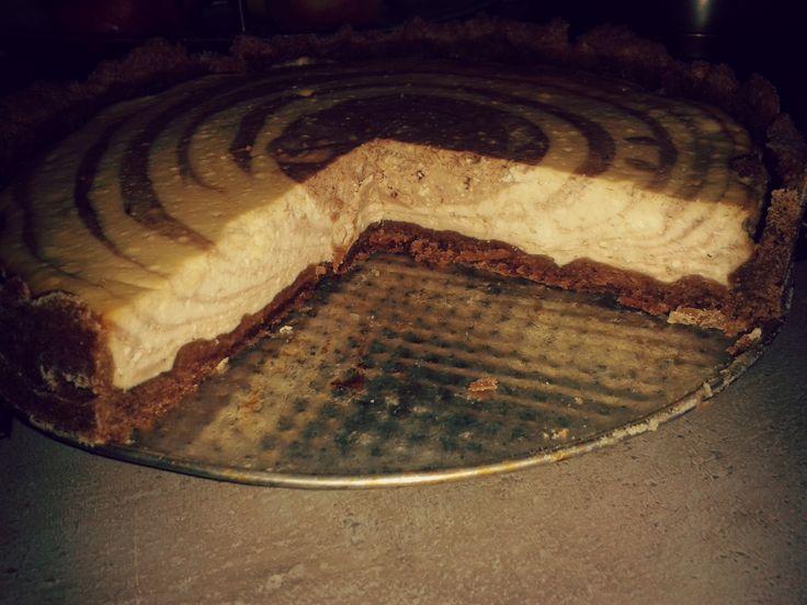 Mramorový tvarohový dort