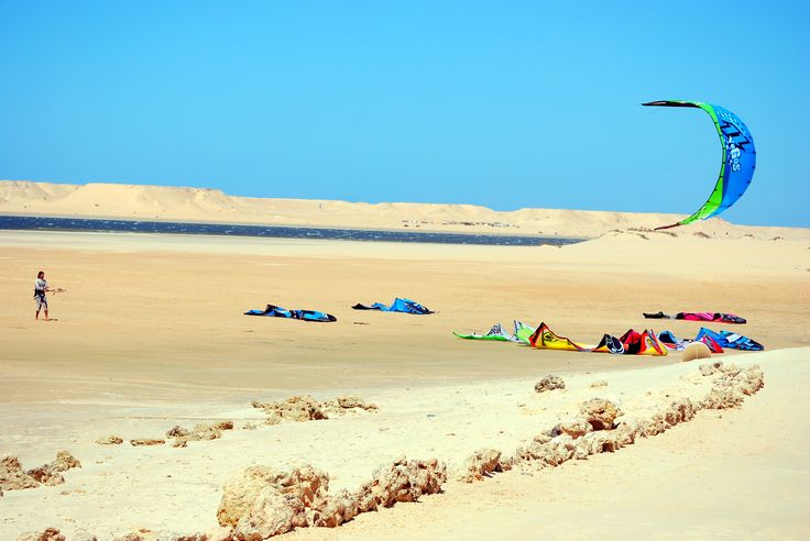 The #Kitesurfing lagoon in #Dakhla #Morocco.   #Holidays #Travel #UK #MoroccoHolidayPackages #ViriksonMoroccoHolidays