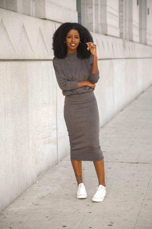 Sweatshirt Midi Dress