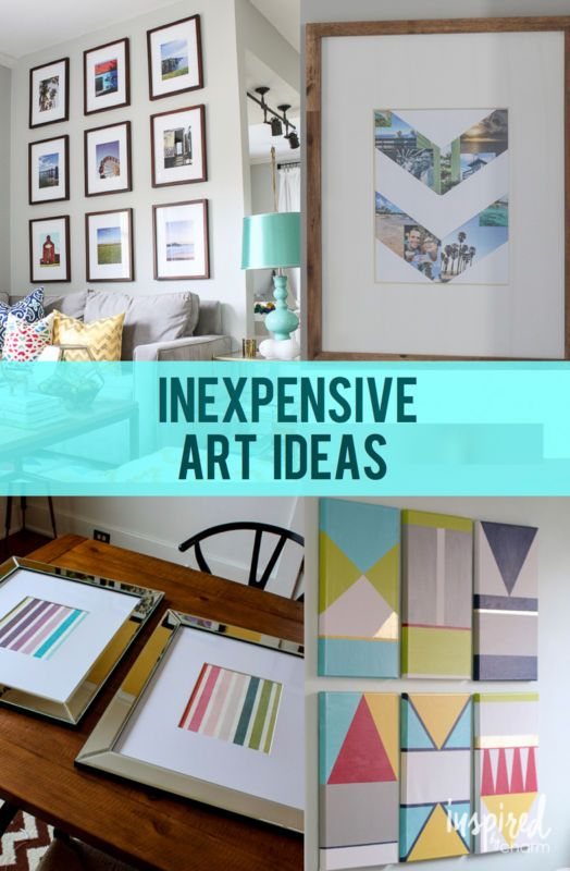 Inexpensive Art Ideas - have a blank wall? Check out these ideas to get it decorated?