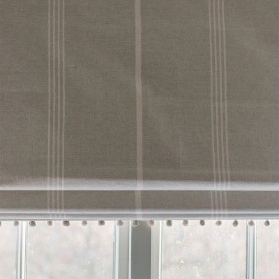 Oxford Stripe -Grey Ivory -Double Width - 243