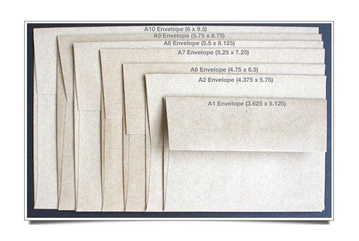 Announcement Size Envelopes  Visual Guide  Envelopes Envelope
