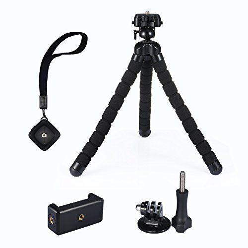 From 12.47 Mini Tripod Mpow Flexible Mini Tripod Camera Travel Tripod With Bluetooth Control For Gopro And Small Camera Black
