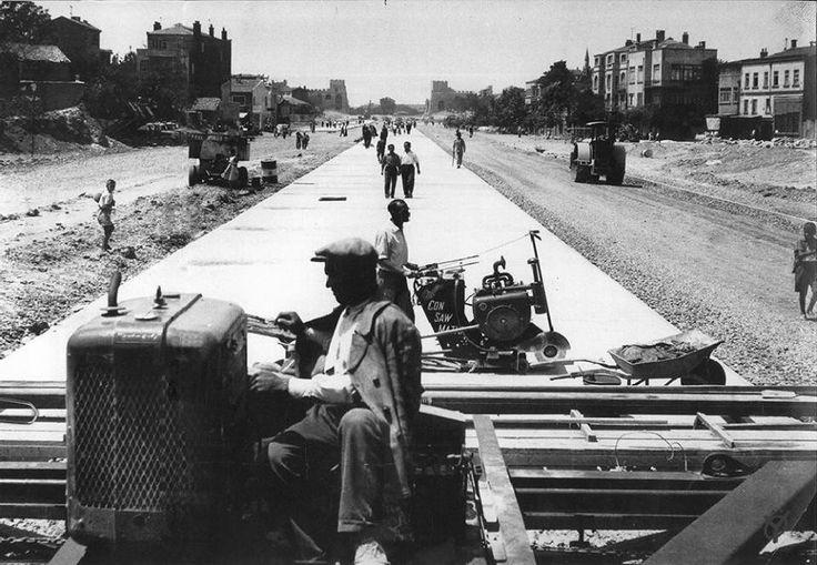 1959 - Millet Caddesi yol yapımı ( Topkapı ,Şehremini arası )