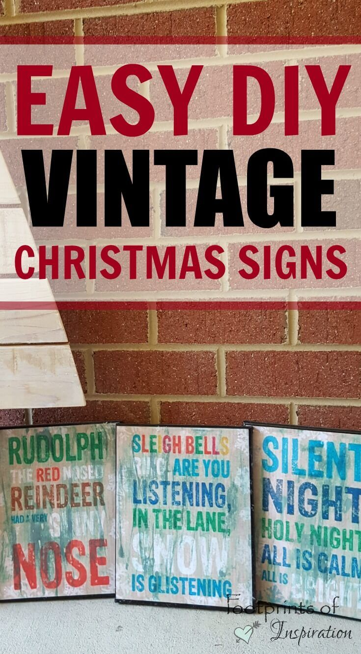 These vintage signs are so cute and ridiculously easy! Head over to Footprints of Inspiration to see these Easy DIY Vintage Christmas Signs. They are great for your own Christmas Decor and to make as an adorable Christmas Gift for someone on your list.
