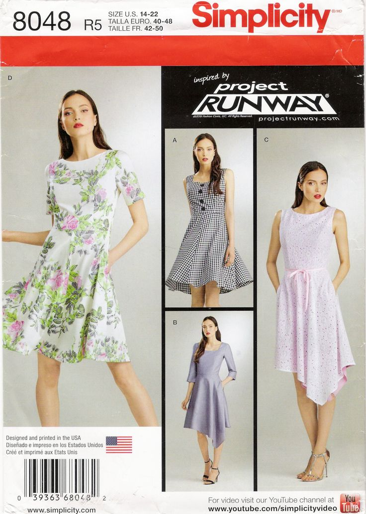 24 besten Simplicity runway project patterns Bilder auf Pinterest ...