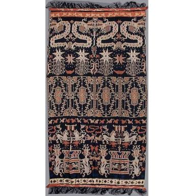 Vintage Ikat Ceremonial Hinggi from Sumba Indonesia