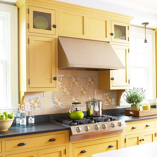 Yellow Kitchen Tiles: 70 Best Craftsman Kitchen Remodel Images On Pinterest