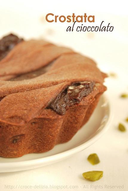 crostata al cioccolato, indecentemente calorica ma tanto deliziosa al palato, di Ernst Knam.