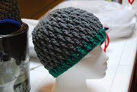 The Laughing Willow: Deeply Textured Hat free pattern-  ** Made this for the hubby, he says it's not too hot indoors while keeping him warm outdoors.  ** The first few rows were rippling so I decreased the amount of stitches in each row but added another row... took a couple tries but it worked just fine.  ** The pattern is a nice change of pace in stitches used while being quite simple.