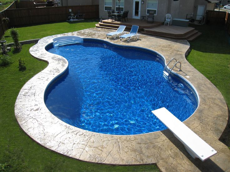 images of garden landscaping with kidney shaped pool | BACK