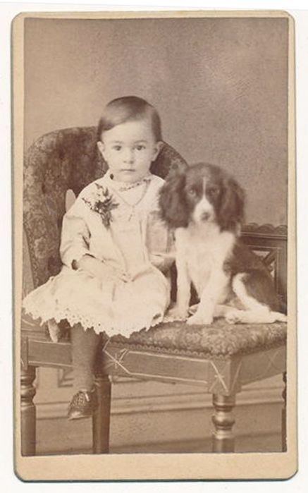 +~+~ Antique Photograph ~+~+   Precious boy and his dog.  The expression on the doggie's face melts my heart.