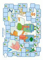 Letterspel - Kikker in de kou - spelbord Ook leuk voor in het letterkoffertje, voor mee naar huis.