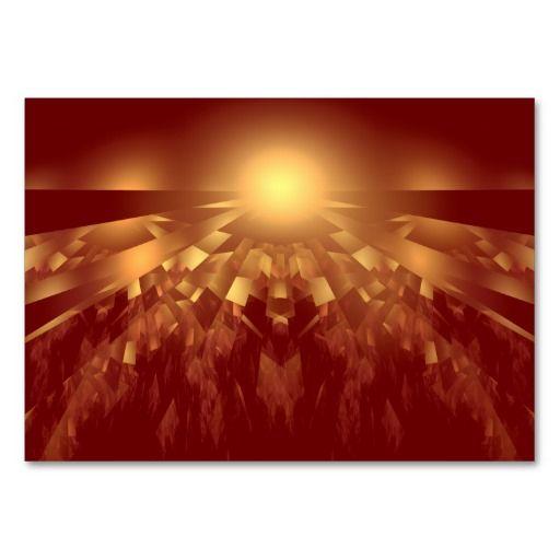 Sunrise Fractal Business Card