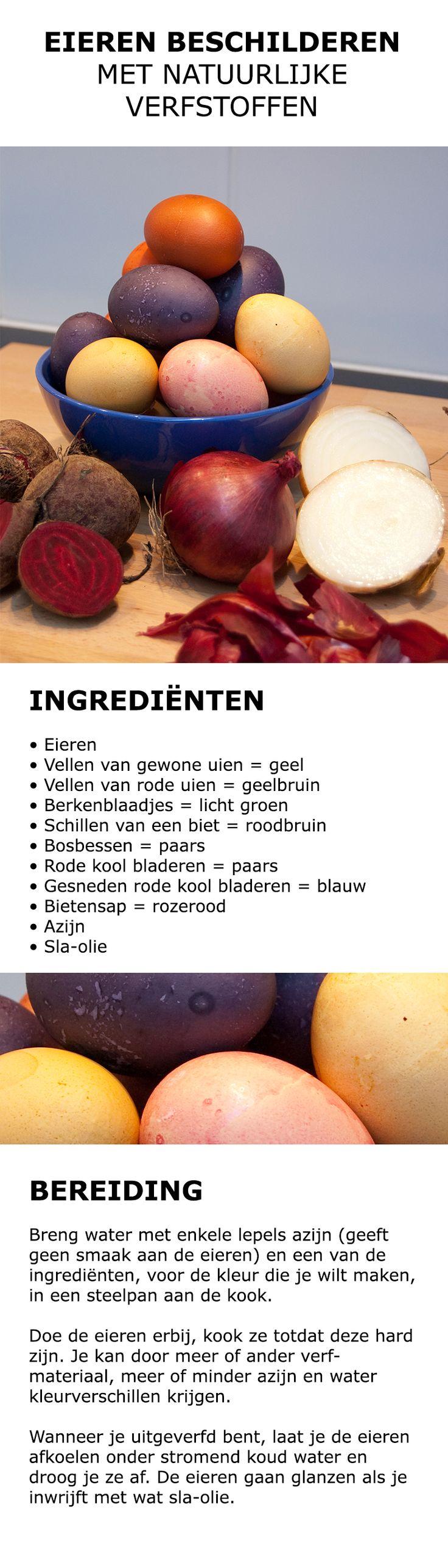 Inspiratie voor in de keuken - Eieren beschilderen | #IKEA #IKEAnl #koken #recept #ei #verven #pasen #natuurlijk