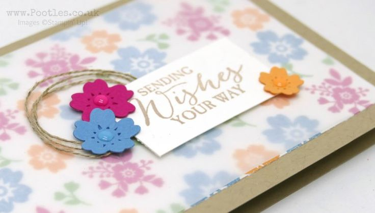 Stampin' Up! Demonstrator Pootles - Bloomin' Love card with a Vellum Overlay.  Click through for more details of this simple layered card