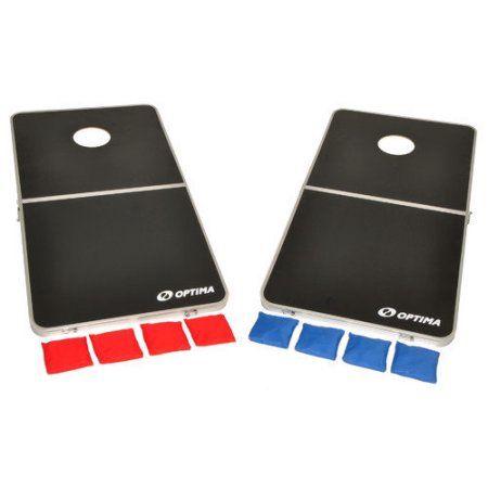 Free Shipping. Buy Optima CornHole Bean Bag Toss Game Set, Portable Foldable Aluminum Frame at Walmart.com