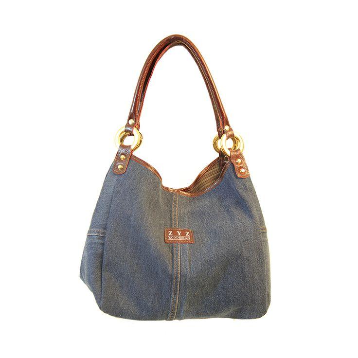 Bucket Bag Denim from recycled materials - Zyz Ecodesign