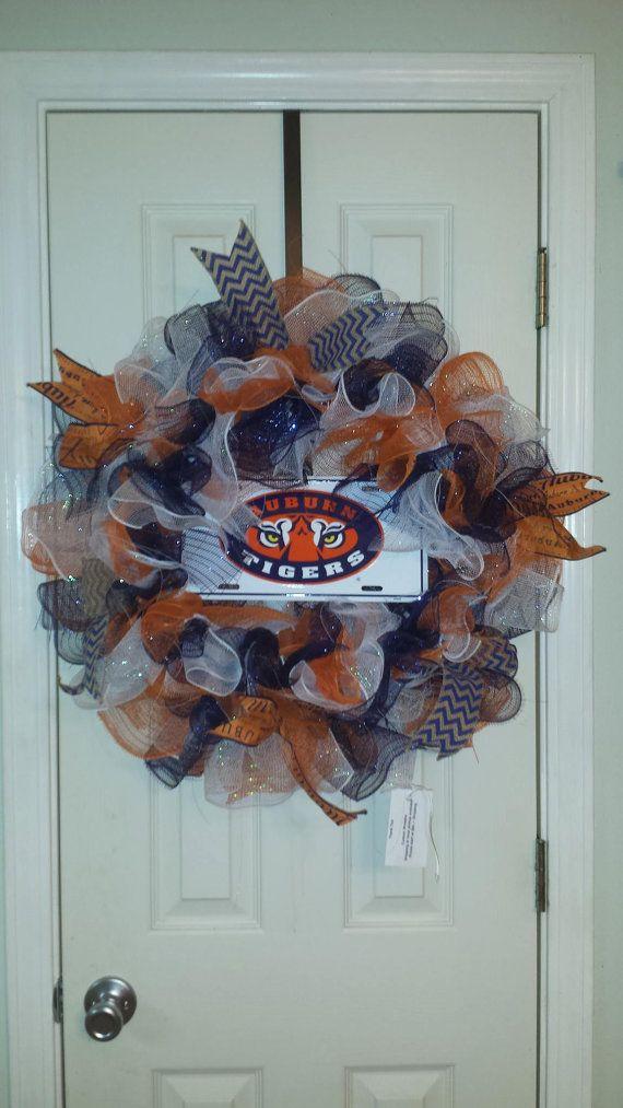 Auburn Wreath by DecoCrazed on Etsy