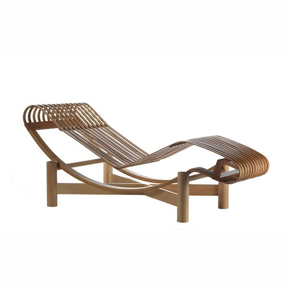 Charlotte perriand chaise longue en bambou chaise for Chaise longue jardin bambou