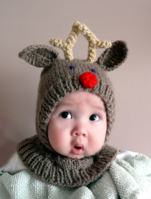 ): Cutest Baby, Christmas Cards, Red Nose, Cute Baby, Crochet Baby Hats, Crochet Hats, Christmas Baby, Reindeer Hats, Knits Hats