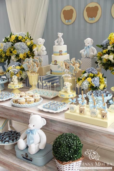 Little Wish Parties | Teddy Bear Baby Shower | https://littlewishparties.com