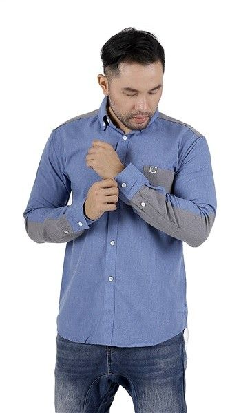 Blue Comb Chambray Shirt
