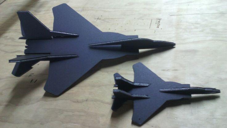 F-21 fun with 1.6w laser cut from art sandwich board at 100mm per minute