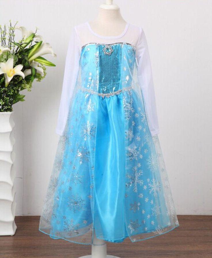 Frozen jurk prinses Elsa zilver