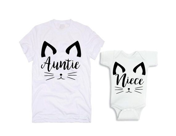 Aunt And Niece Matching Set Aunt Niece Shirt by graceandclothing