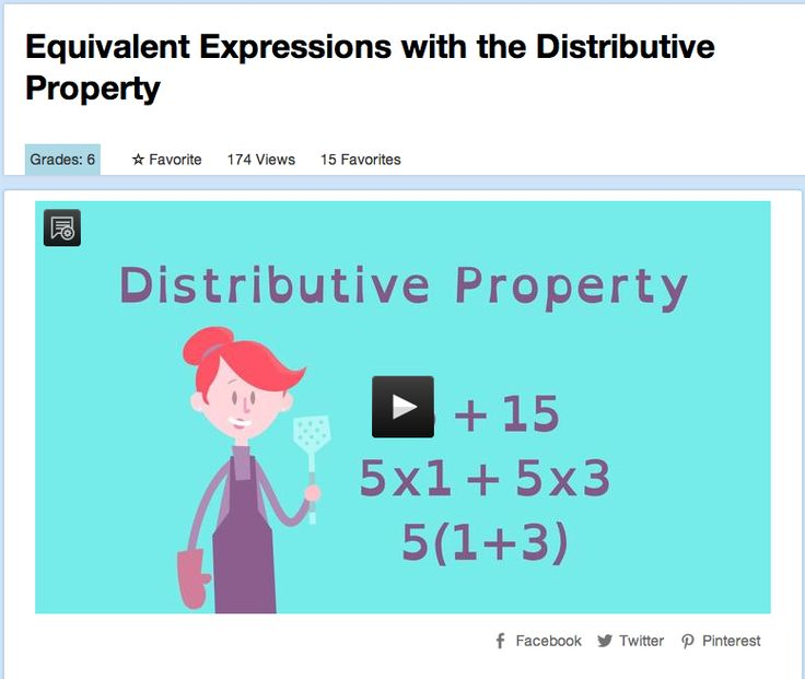 Equivalent Expressions with the Distributive Property ...