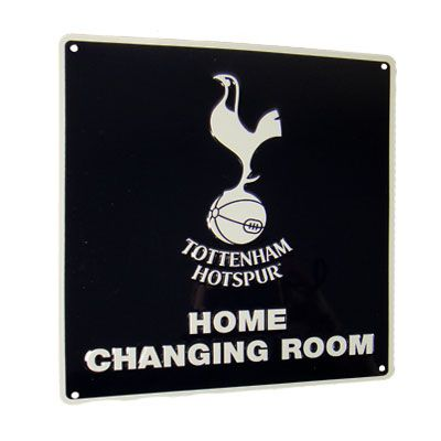 TOTTENHAM HOTSPUR Home Changing Room Metal Sign. Approx 23cm x 25cm. Official Licensed Tottenham Hotspur merchandise. FREE DELIVERY ON ALL OF OUR GIFTS