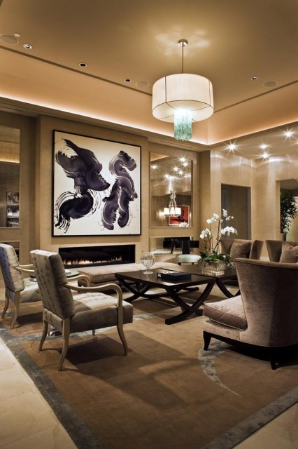 Cream And Grey Living Room With Black Accent Part 81
