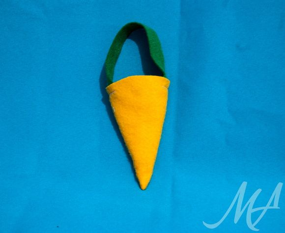Saquinhos de Cenoura feitos em Feltro.   Ideal para a páscoa ou festinhas tema coelhinho.