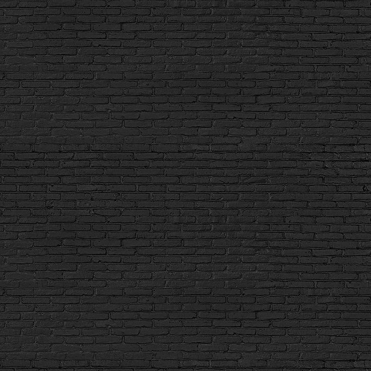 Piet Hein Eek 33 Black Brick Wallpaper